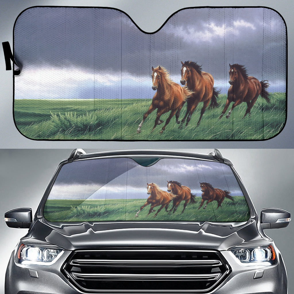 car sun shade with horse print  algarve online shop