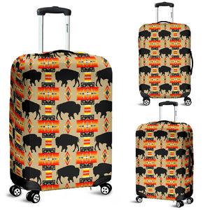 Buffalo Tan Luggage Cover