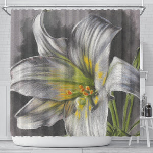 shower curtain flower