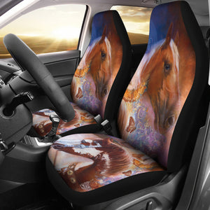 Car seat cover horses