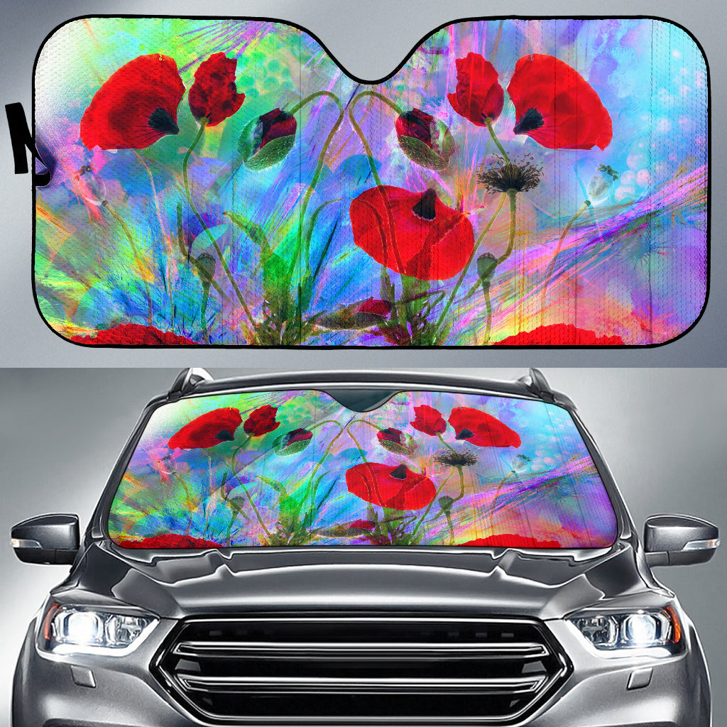 Car Sun Shade Flowers