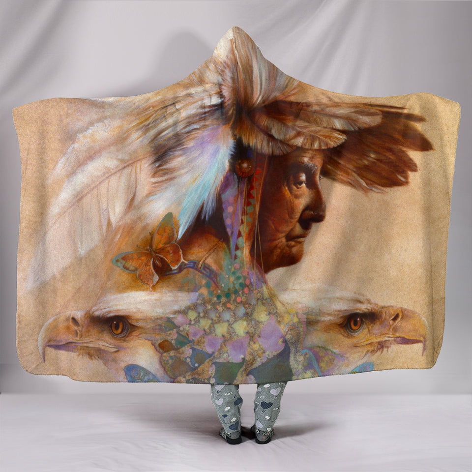 Medicine Woman Hooded Blanket