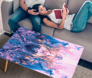 HandCrafted Pink Liquid Abstract Coffee Table