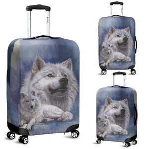 Luggage cover wolf