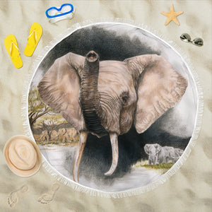 Beach Blanket - Elephants Imperiled