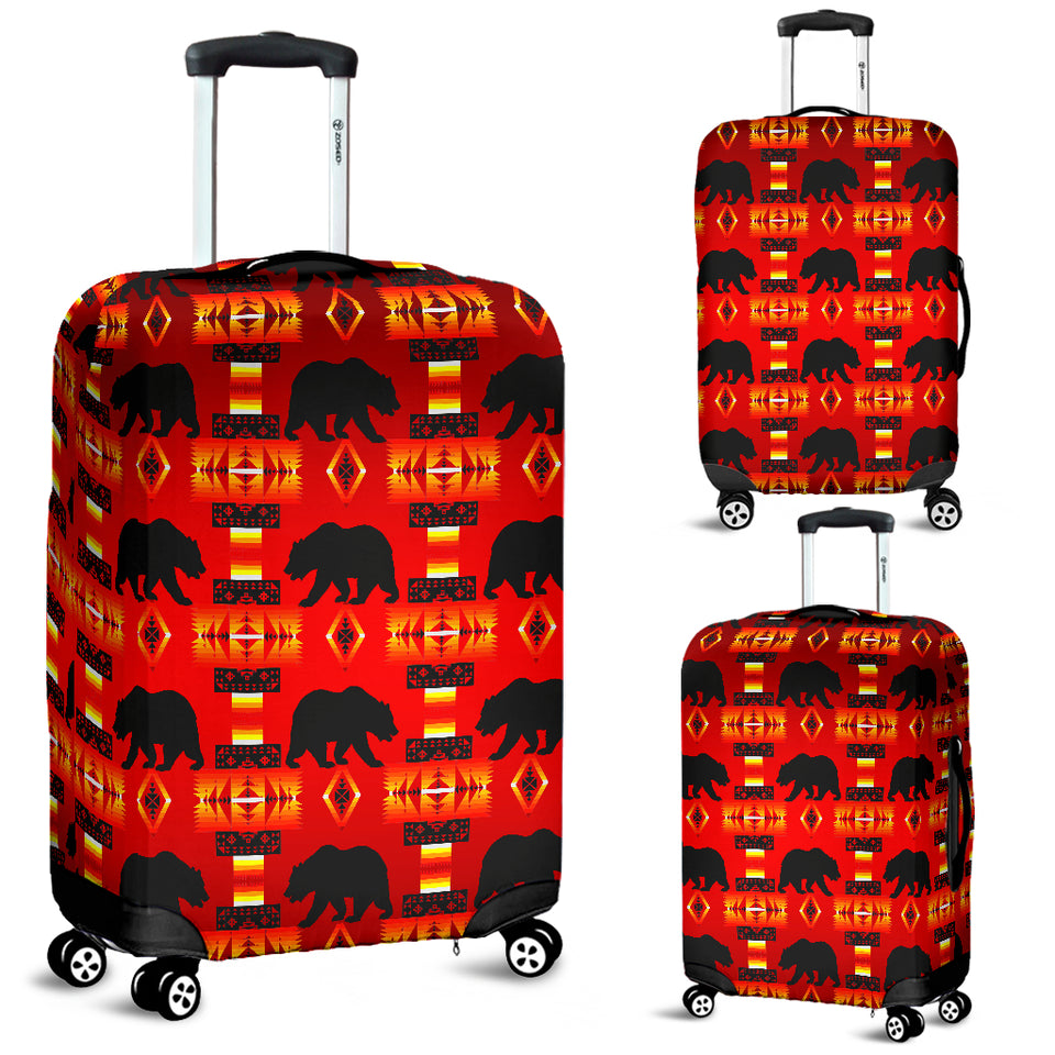 Real Bear Red Luggage Cover