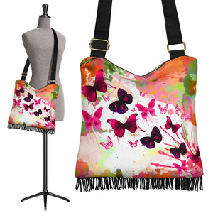 Butterflies Boho Cross Body Bag