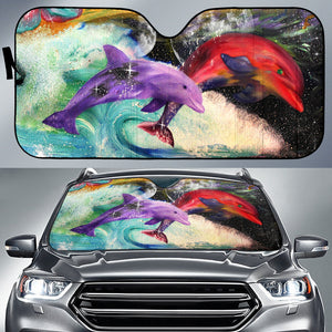 car sun shade with dolphin print  algarve online shop