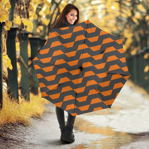 Hypnotic Orange Wave - Umbrella