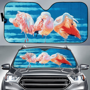 car sun shade with flamingo print algarve online shop