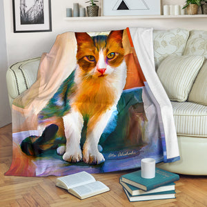 cat print throw blanket algarve online shop