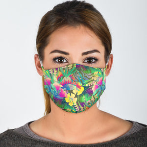 tropical print face mask