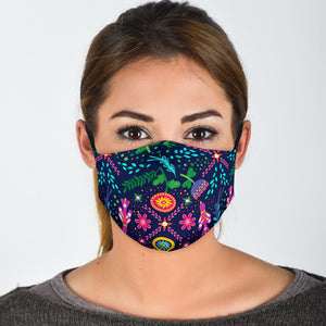 pattern face mask with filter