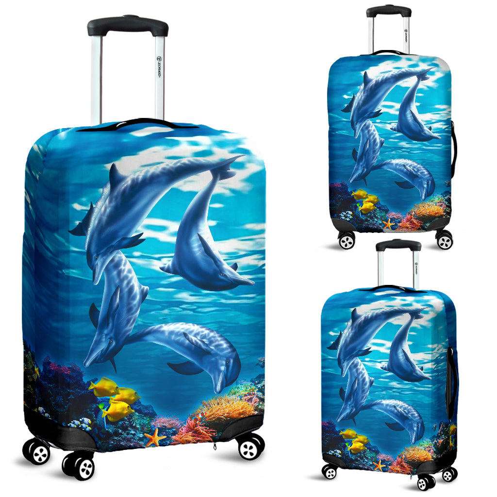dolphin luggage cover