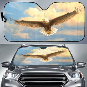 auto sun shade with eagle print