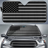 car sun shade american flag