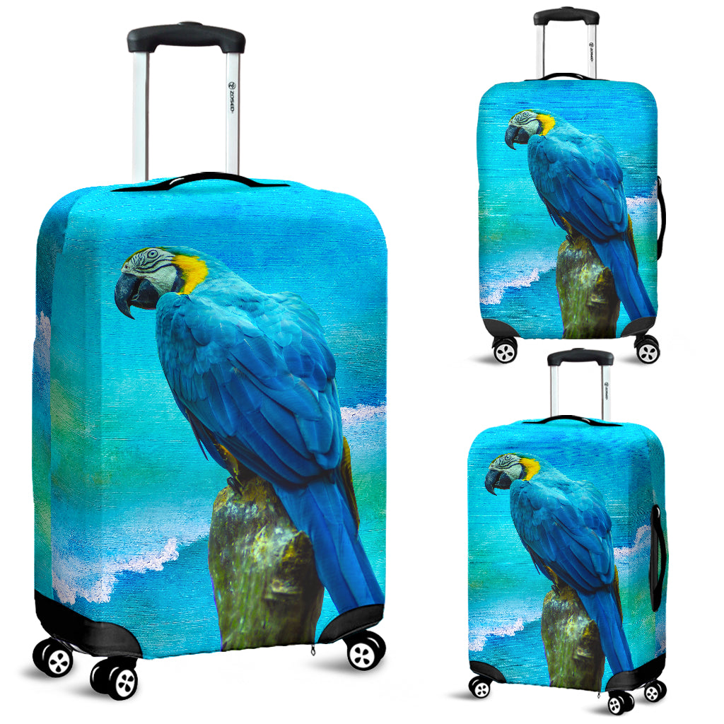 Luggage cover parrots
