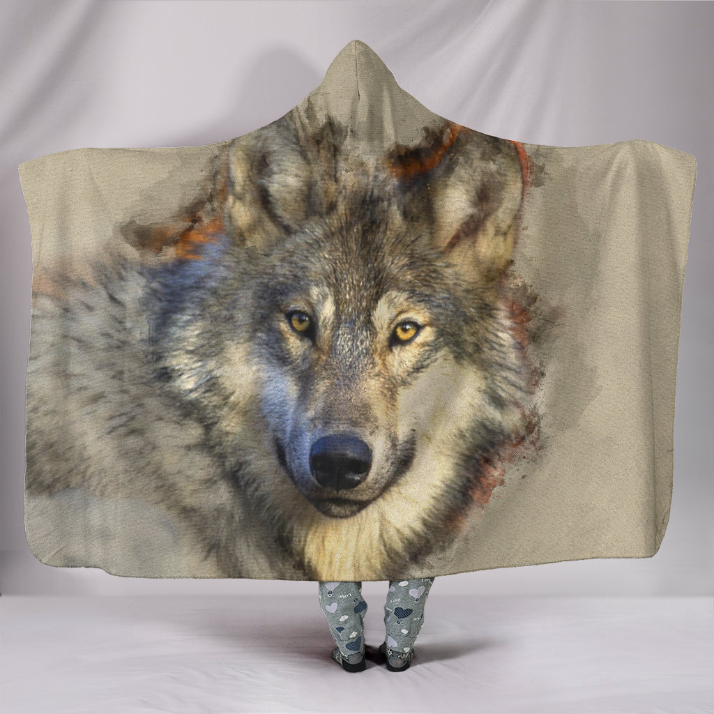 Hooded Blanket - I am a Wolf