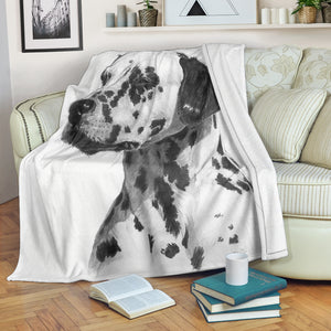 dog print throw blanket