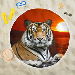 Beach Blanket - Tiger Sunset