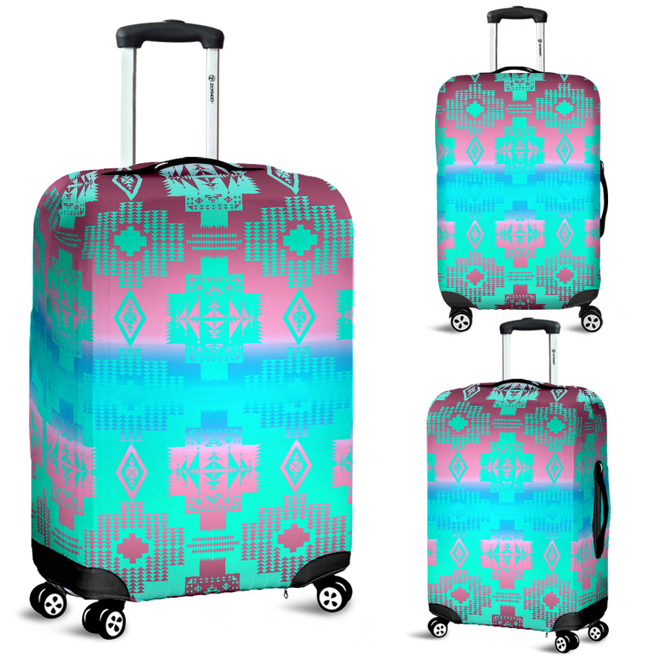 Pretty Pink Clouds Luggage Cover