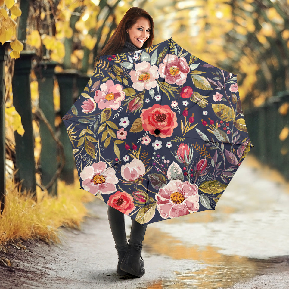 Umbrella Floral- Vintage Flowers