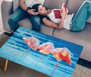 rectangle coffee table flamingo