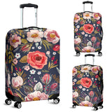 luggage cover vintage flowers