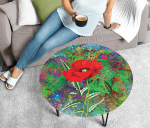 Coffee Table Colorful Poppies