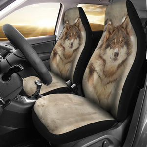 car seat cover wolf in snow