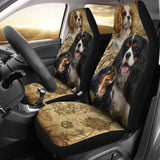 Cavalier King Charles Spaniel Car Seat Covers (Set of 2)