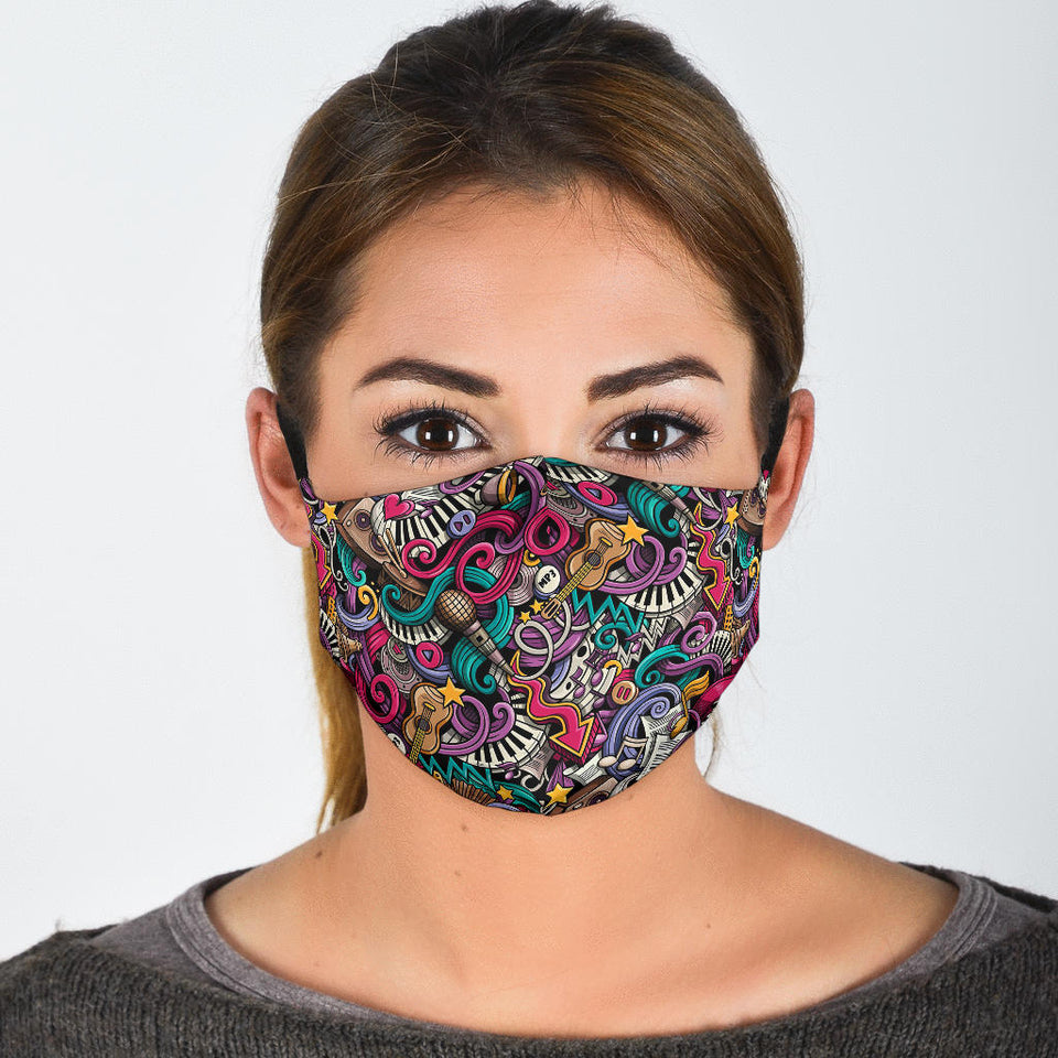 music themed face mask