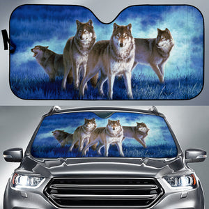 Car Sun Shades- Wolf Pack