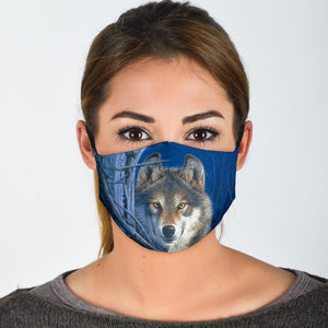 Face Mask - Wolf Print