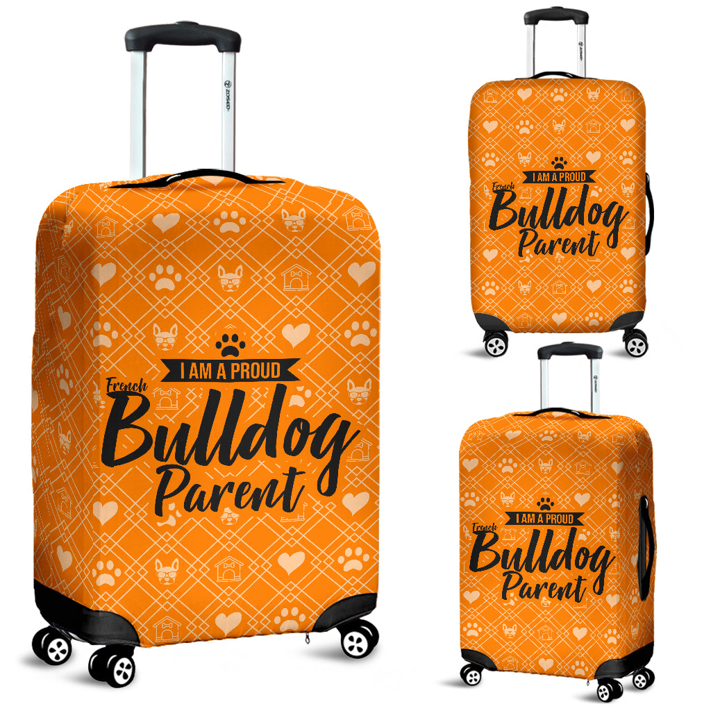 Proud French Bulldog Parent Luggage Cover