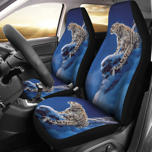 car seat cover snow leopard