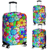 Floral Suitcase Luggage Cover
