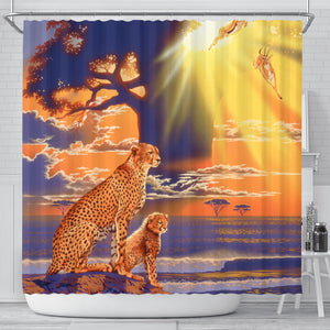 best shower curtains with cheetah art