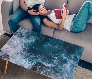 Handcrafted Blue Ocean Coffee Table
