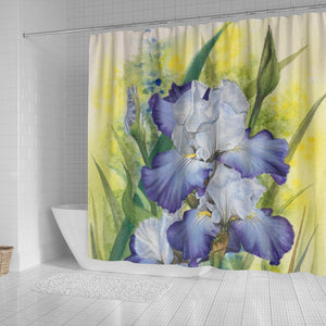 flower Iris shower curtain we34