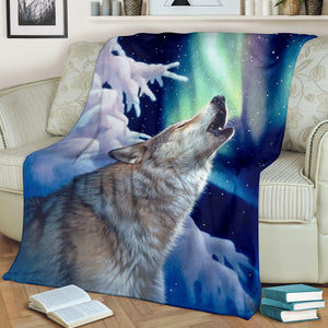 Blanket Wolf Holy Night