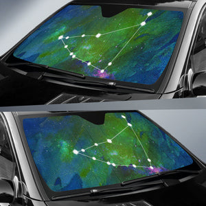 Zodiac Capricorn Car Sun Shade Horoscope