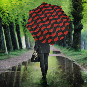 Hypnotic Red Wave Umbrella