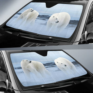 unique car sun shade with polar bear print algarve online shop