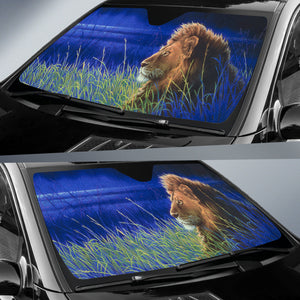 unique car sun shade with lion print algarve online shop