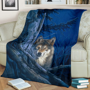 Wolf blanket moonshine