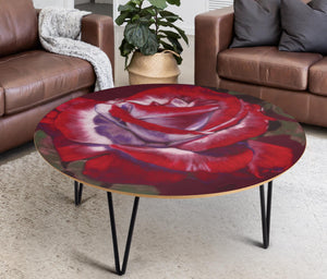 Coffee Table Red Rose