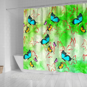 shower curtains butterly print. buy online