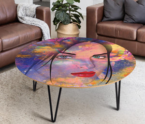 Coffee Table Pop art Face