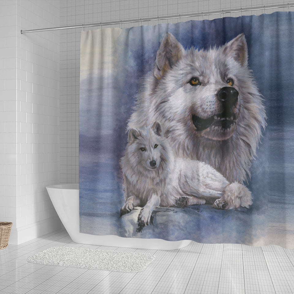 Shower Curtain Wolf - Noble Intensity